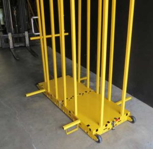 Forklift post brackets in dolly 500 300x292 - yel-Low Safety Dolly