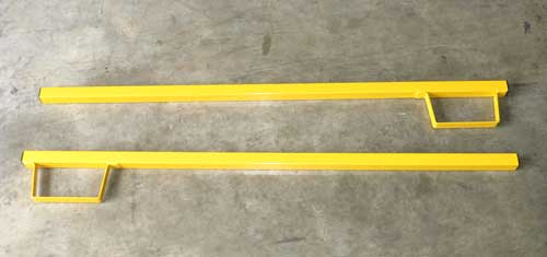 Forklift posts with bracket, pair (2)