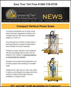 Saw Trax July 2020 Newsletter