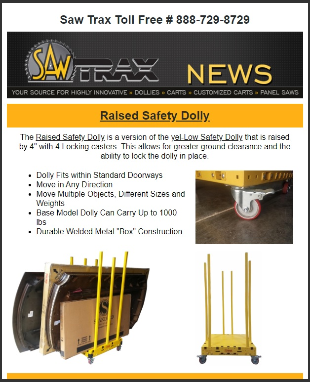 Saw Trax August 2020 Newsletter