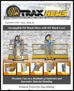 Preview of September 2021 Newsletter featuring Sign Making Accessories and GlassBuild Info